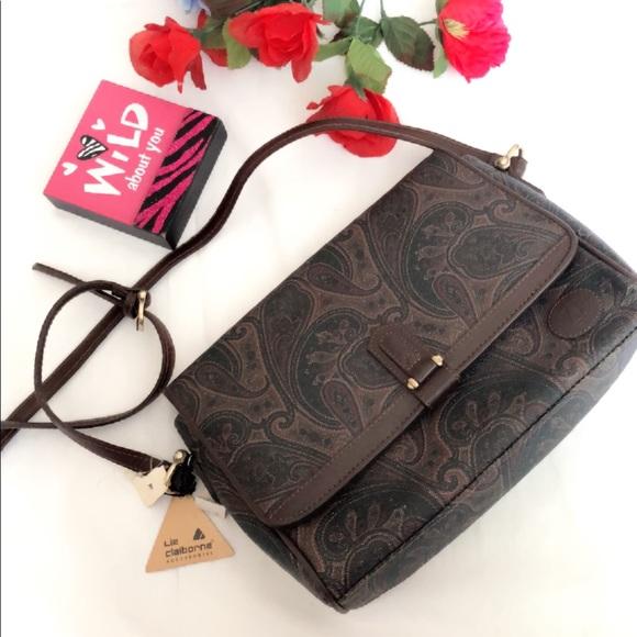 Liz Claiborne Handbags - NWT Liz Claiborne Leather Crossbody Purse
